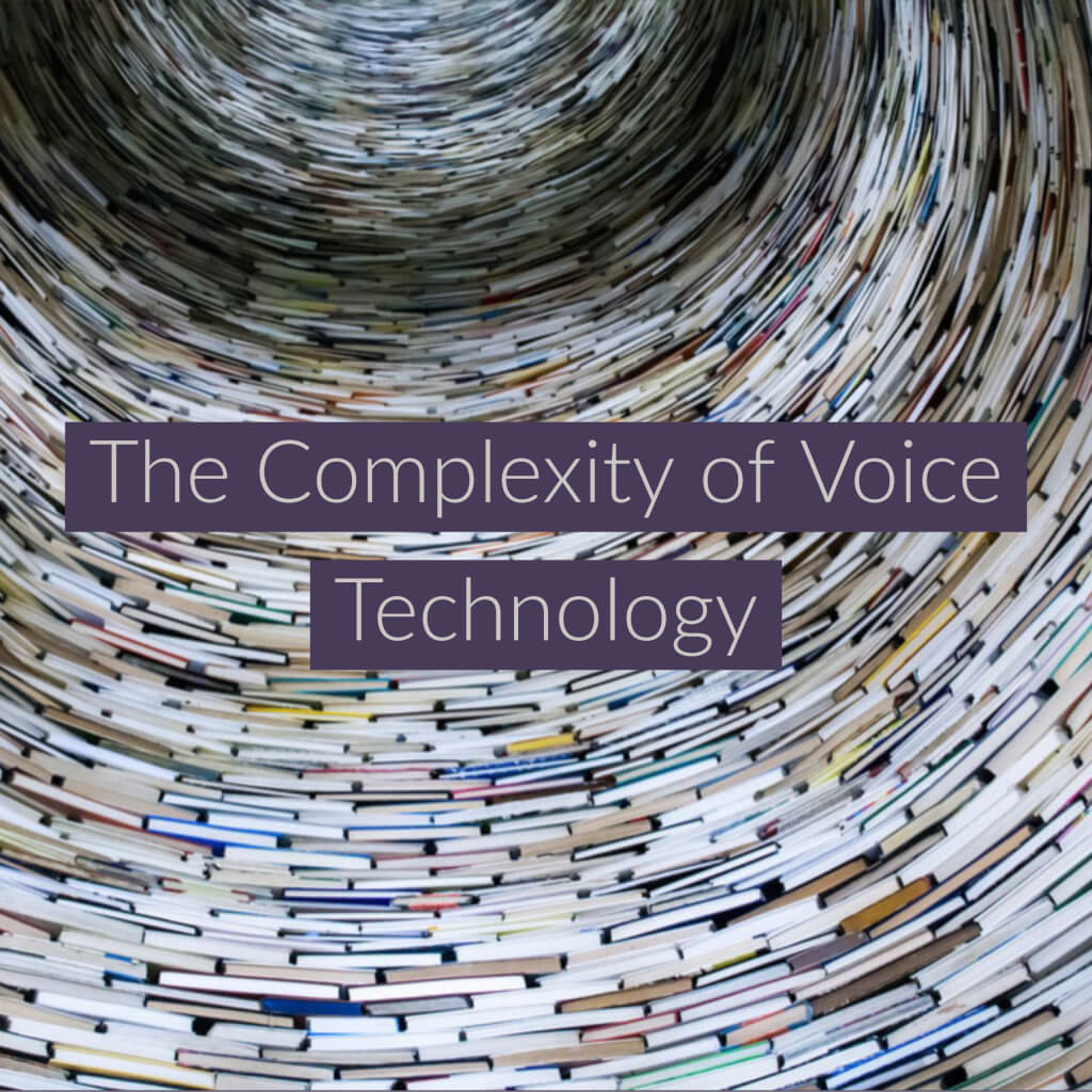 The complexity of Voice Technology