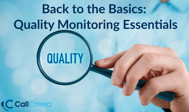 Back to the Basics: Quality Monitoring Essentials