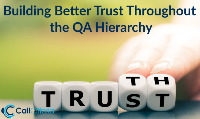 Building Better Trust Throughout the QA Hierarchy