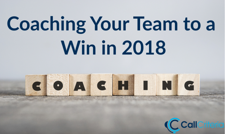 Coaching Your Team to a Win in 2018