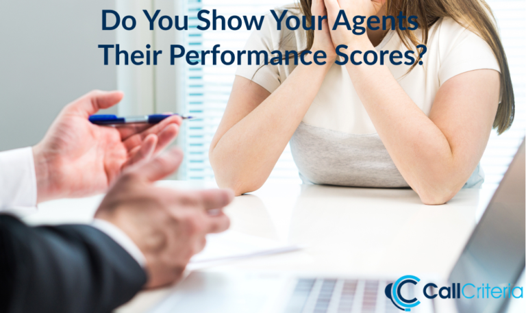 Do You Show Your Agents Their Performance Scores