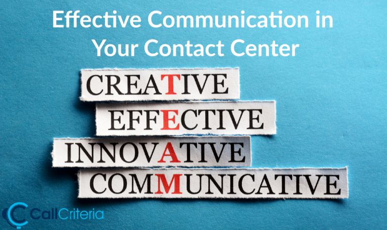 Effective Communication in Your Contact Center