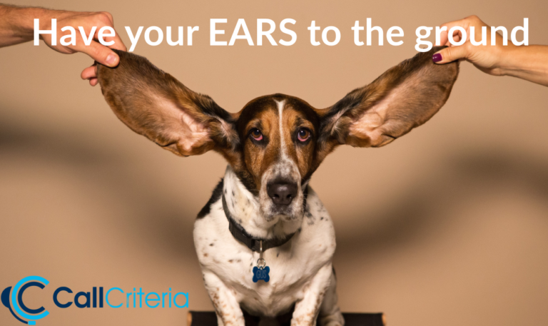 Have your EARS to the ground
