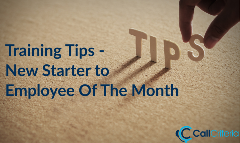 Training Tips - New Starter to Employee Of The Month